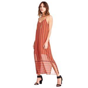 BCBGENERATION Striped Cami Shift Maxi Dress Small